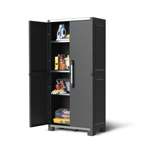 Keter XL Pro Utility Heavy Duty Indoor Storage Cabinet Grey ? The Home Shoppe