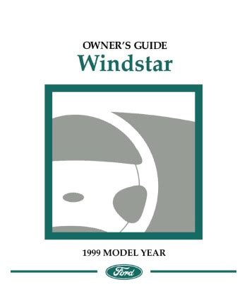 1999 Ford Windstar Owners Manual