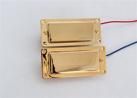 1pcs Golden Lp Electric Guitar Humbucker Alnico V 5 Neck wilkinson wmh mini humbucker gold cover with metal gold ring alnico