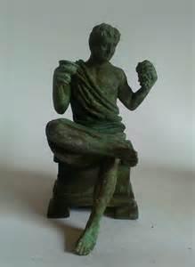Dionysus Greek God Statue by Roman Bronze Figure Ancient Greek God Of Wine Dionysus