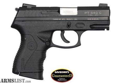 Taurus Pt 840 40s W armslist for sale taurus pt840 compact 40 s w pistol