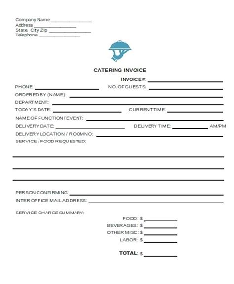 catering invoice template excel catering receipt template yagoa me