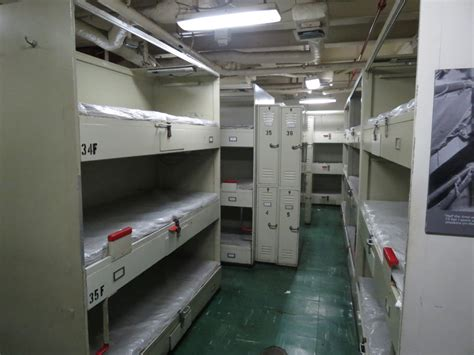 Navy Sleeping Racks by Uss Midway Offers Floating Museum Of Naval History And