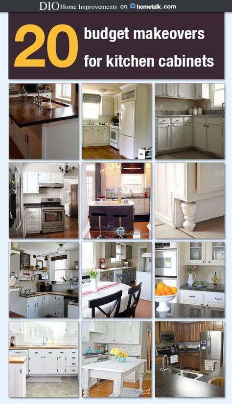 diy kitchen cabinet makeover ideas all about house design 20 budget kitchen cabinet makeovers quot diy home decor