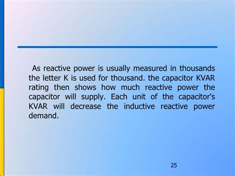 capacitor ratings in kvar power management in bms