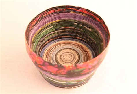 How To Make Paper Bowls From Magazines - amazing recycled magazine bowl craft mod podge rocks