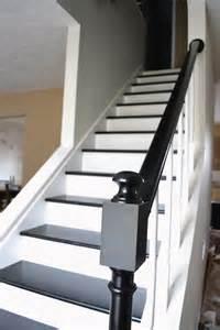 How To Paint A Stair Banister Des Escaliers Chics En Noir Et Blanc Floriane Lemari 233