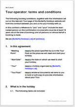 tour operator terms and conditions template