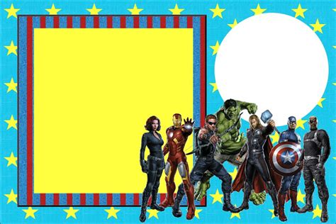 avengers template for birthday invitation avengers free printable invitations oh my fiesta in