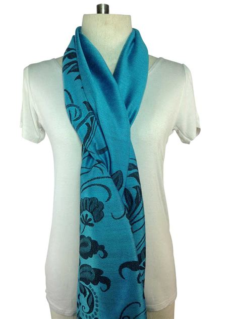 patterned light blue pashmina pashmina direct from