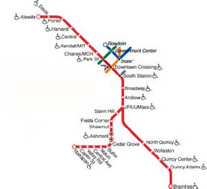 Red Line Boston Map by Planning The Big Move The Friedman Sprout