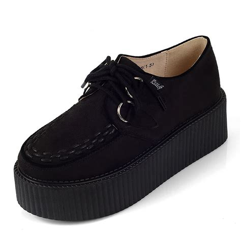 creeper shoes handmade s suede creepers shoes fashion lace up by