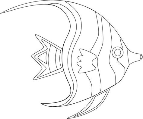 Coloring Page Of Angel Fish Fish Outline Coloring Page