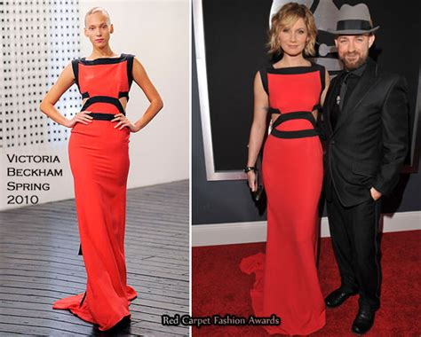 Catwalk To Carpet Beckham by Runway To 2010 Grammy Awards Nettles In