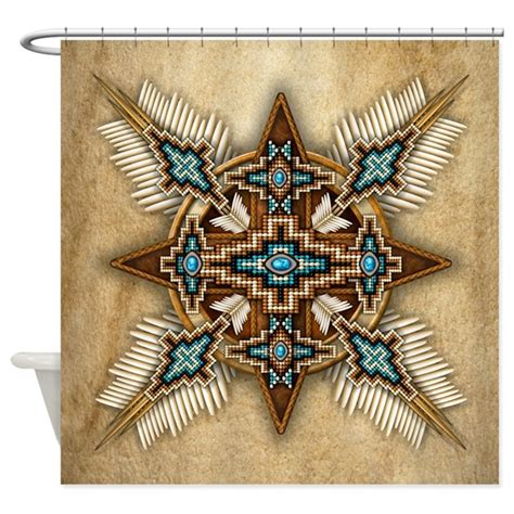 native american curtains native american style mandala 26 shower curtain by