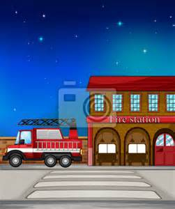 Fire Station Wall Mural wall mural a fire truck near the fire station drawing pixersize