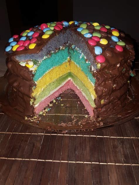regenbogen kuche regenbogen kuchen sina marie155 chefkoch de