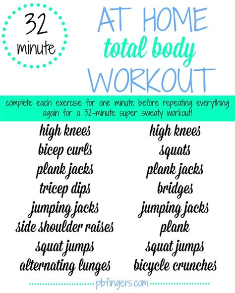 32 minute at home workout peanut butter fingers