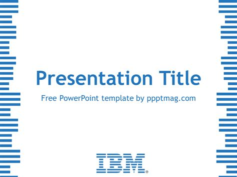 powerpoint use template free ibm powerpoint template pptmag