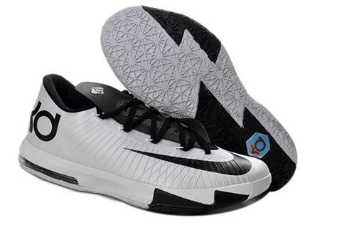 nike kd 6 low tops black white kevin durant shoes piformula