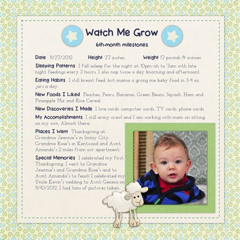 google layout scrapbook baby milestones scrapbook layout google search all