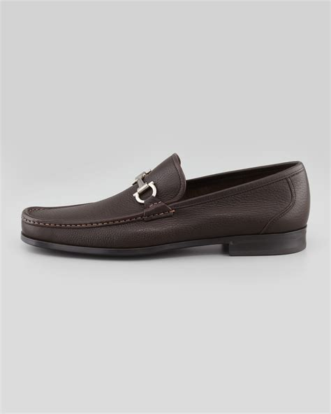 ferragamo magnifico loafer ferragamo magnifico gancini loafer in brown for lyst
