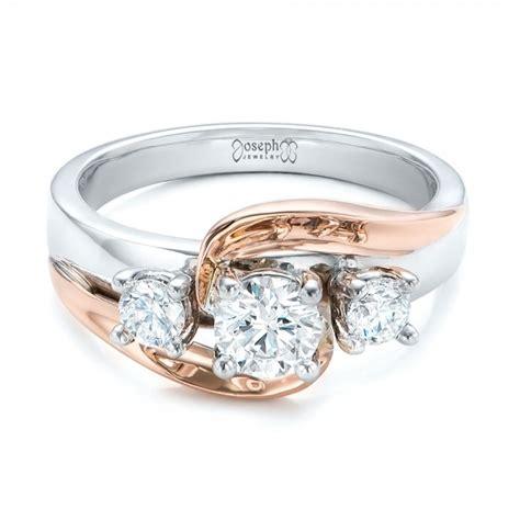 custom two tone engagement ring 101992