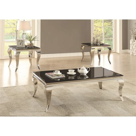 coaster 705010 glam coffee table with legs