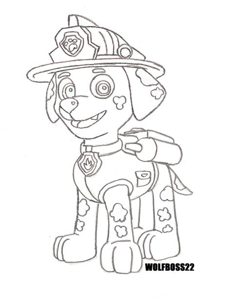 Paw Patrol Coloring Pages Marshall paw patrol marshall coloring pages coloring pages
