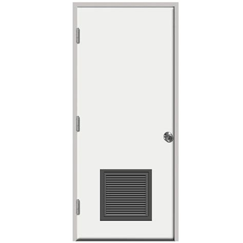 24 Inch Exterior Door Home Depot Steves Sons 24 In X 80 In Premium Vented Flush Primed White Right Outswing Steel