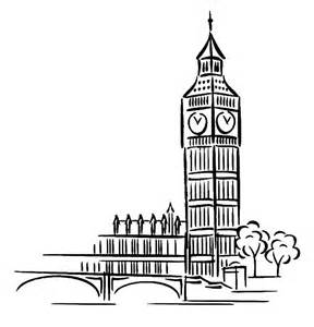 big ben clock tower architechture coloring pages netart