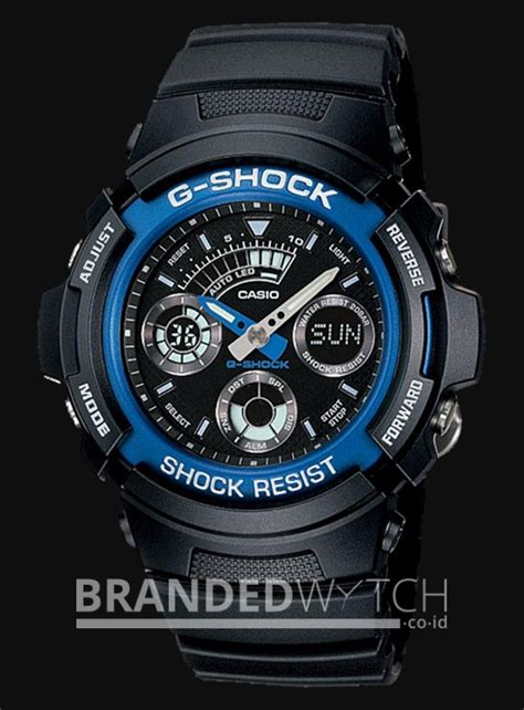 Jam Tangan Pria Sport G Shock Casio Dualtim Water Ressit 55 casio g shock aw 591 2adr black blue brandedwatch co id
