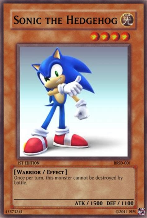 Where Can You Buy A Sonic Gift Card - sonic yugioh card by cardgames33 on deviantart