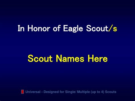 Ppt Ballad Of An Eagle Scout Powerpoint Presentation Eagle Scout Powerpoint Template