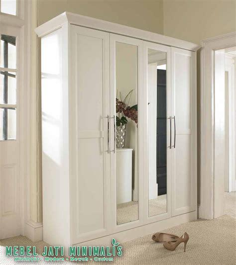 Lemari Pakaian Sliding Warna Putih lemari pakaian minimalis 4 pintu cermin putih terbaru