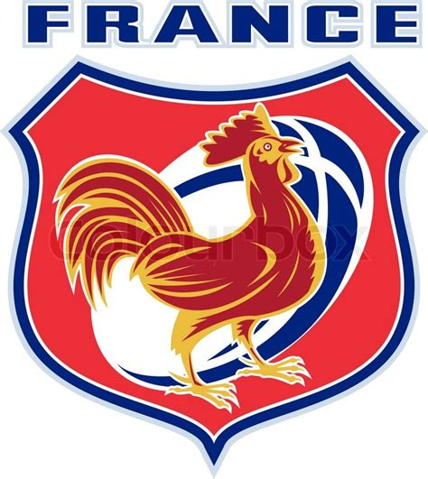 french sports illustration of a french sport sporting mascot rooster