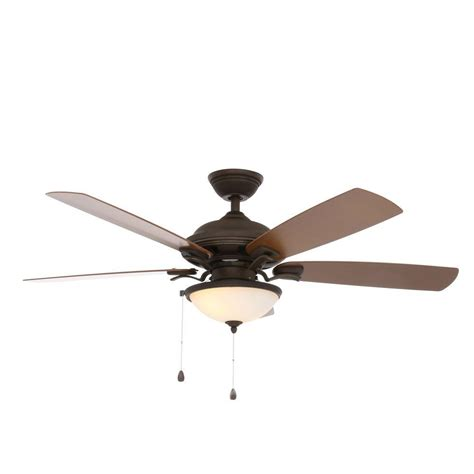 indoor outdoor ceiling fan with light hton bay glacier bay 52 in indoor outdoor rustic