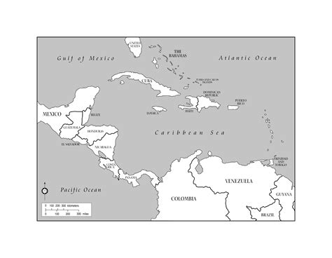 map of america central america and the caribbean maps of the americas page 2
