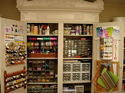 Papercraft Storage - armoire craft closet studio ideas