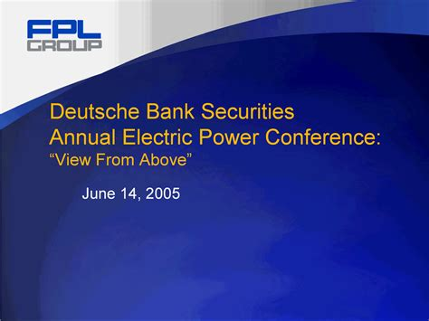 deutsche bank securities deutsche bank securities annual electric power conference