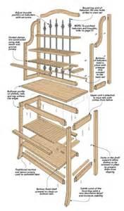 Bakers Rack Plans Traditional Baker S Rack Woodsmith Plans