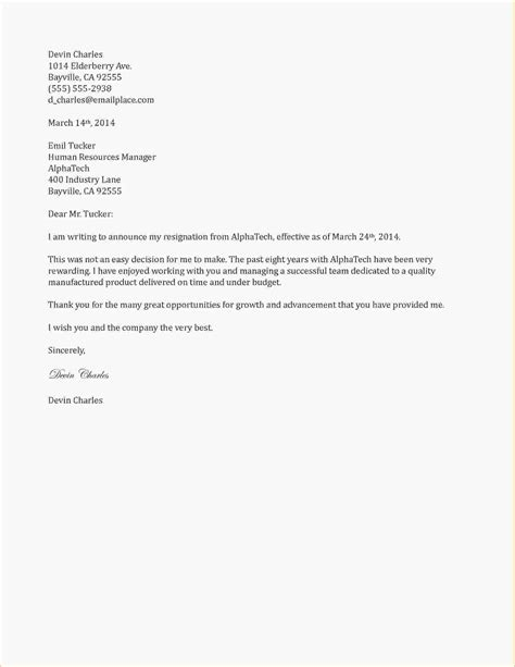 Resignation Letter At Notice Resignation Letter Exle Resignation Letter Two Weeks Notice Format Cover Letter Resignation