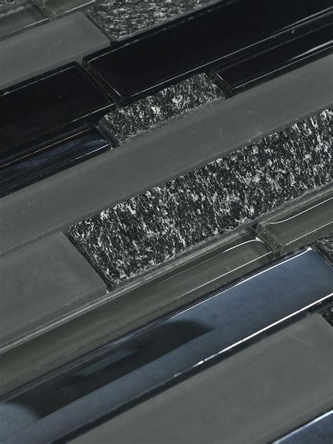 black glass subway tile backsplash black subway glass mosaic tile backsplash