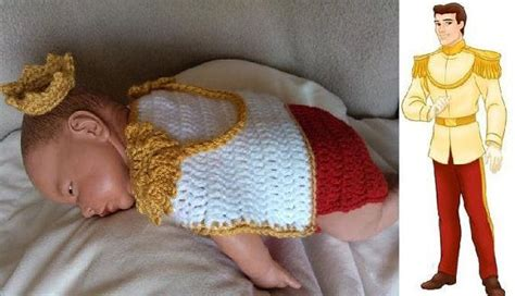 crochet photo prop disney s prince charming from
