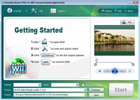 format video wii dvd to wii converter convert dvd movie to wii supported