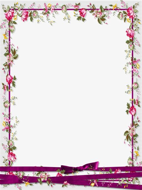 eps format border design free download floral border design graphic design flowers frame png