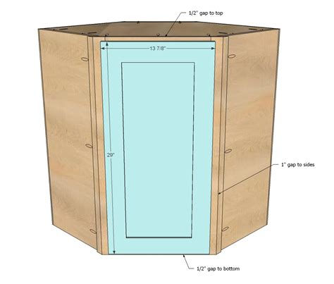 Corner Kitchen Cabinet Plans White Wall Kitchen Corner Cabinet Diy Projects
