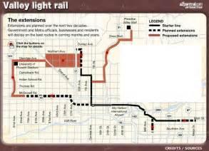 arizona light rail map light rail cool map with extensions