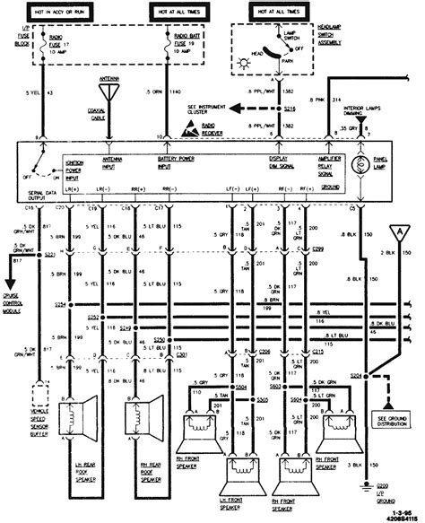 radio wiring diagram on 1995 corvette torzone org