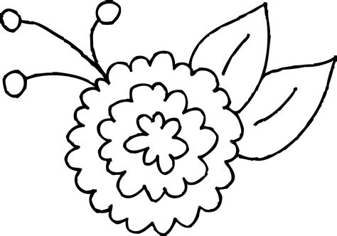 clipart of flowers coloring pages flower clip coloring pages freecoloring4u